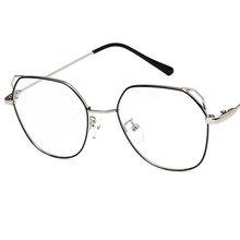 Унисекс классический оптические прозрачные очки Винтаж авиации очки кошачьими ушками золото Рамки Прозрачный Óculos де Грау(Китай)