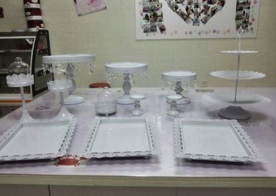 12 Pieces Gold White Cake Stand Wedding Cupcake Stand