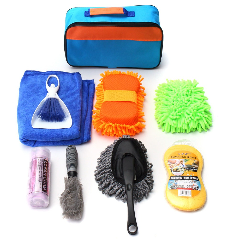 Convenient Portable Wash Kit Factory Price Promotional Care Tool Set China Best Choice Basic Car Cleaning