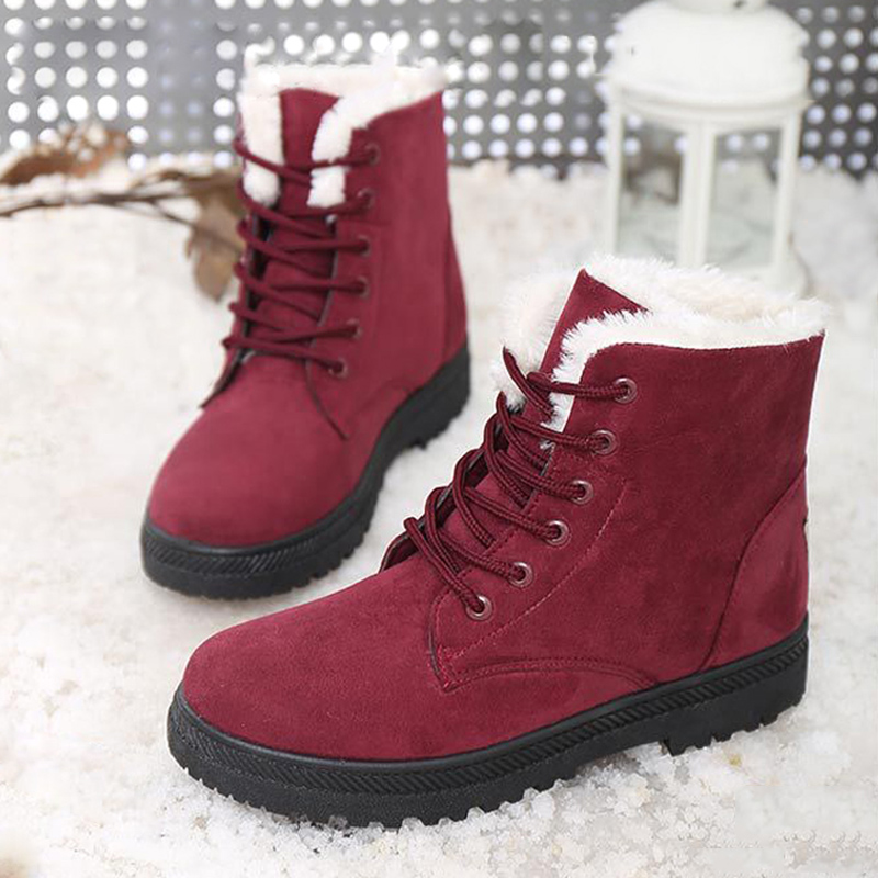 Women Boots Warm Snow Boots 2016 Fashion Ankle Winter ...