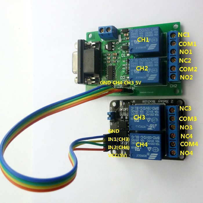 2019 DC 9V 12V 4 Channel RS232 Relay Module Serial Port UART Board  Channel Momentary Remote Wiring Diagram on