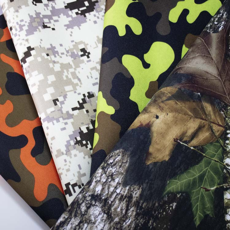 600d PU Coated Camouflage Polyester Printed Oxford Fabric for Backpack