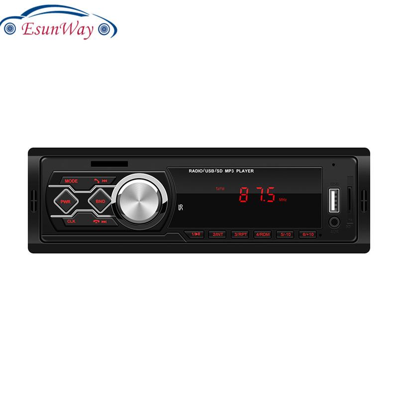Универсальная красная панель EsunWay 12 В, автомобильная стереосистема, MP3 музыкальный плеер, FM-радио, ЖК-дисплей, AUX, TF-карта, USB, U-диск, 1 DIN, автомобильный радиоплеер
