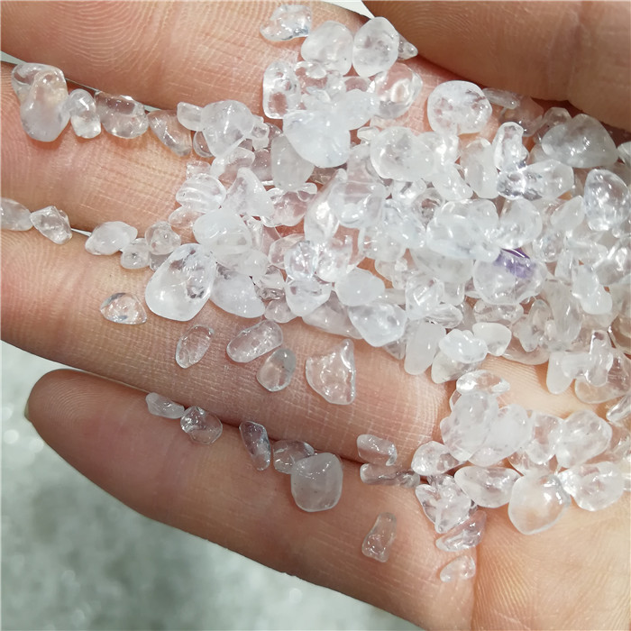 wholesale white clear quartz crystal gravel tumbled crystal stone gravel quartz for home decoration
