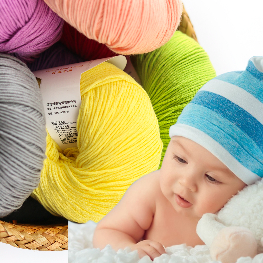 Wuge soft and warm medium weight colorful cotton yarn 100% for wholesale