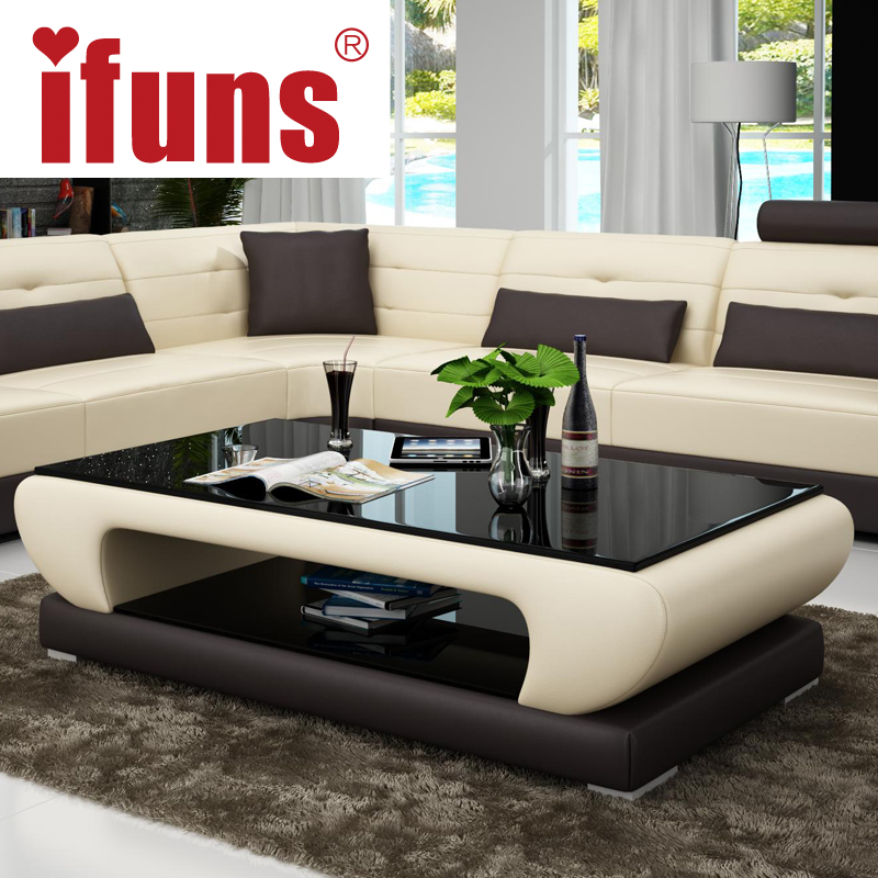 Ifuns living room furniture modern new design coffee - Glass centre table for living room ...