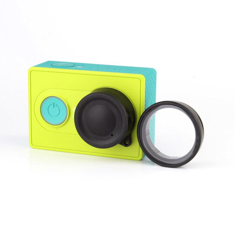 Yi Камеры Аксессуары UV Фильтра Объектива с Крышкой Объектива Крышка Протектор Комплект для Xiaomi Xiaoyi Yi Спорт Камеры
