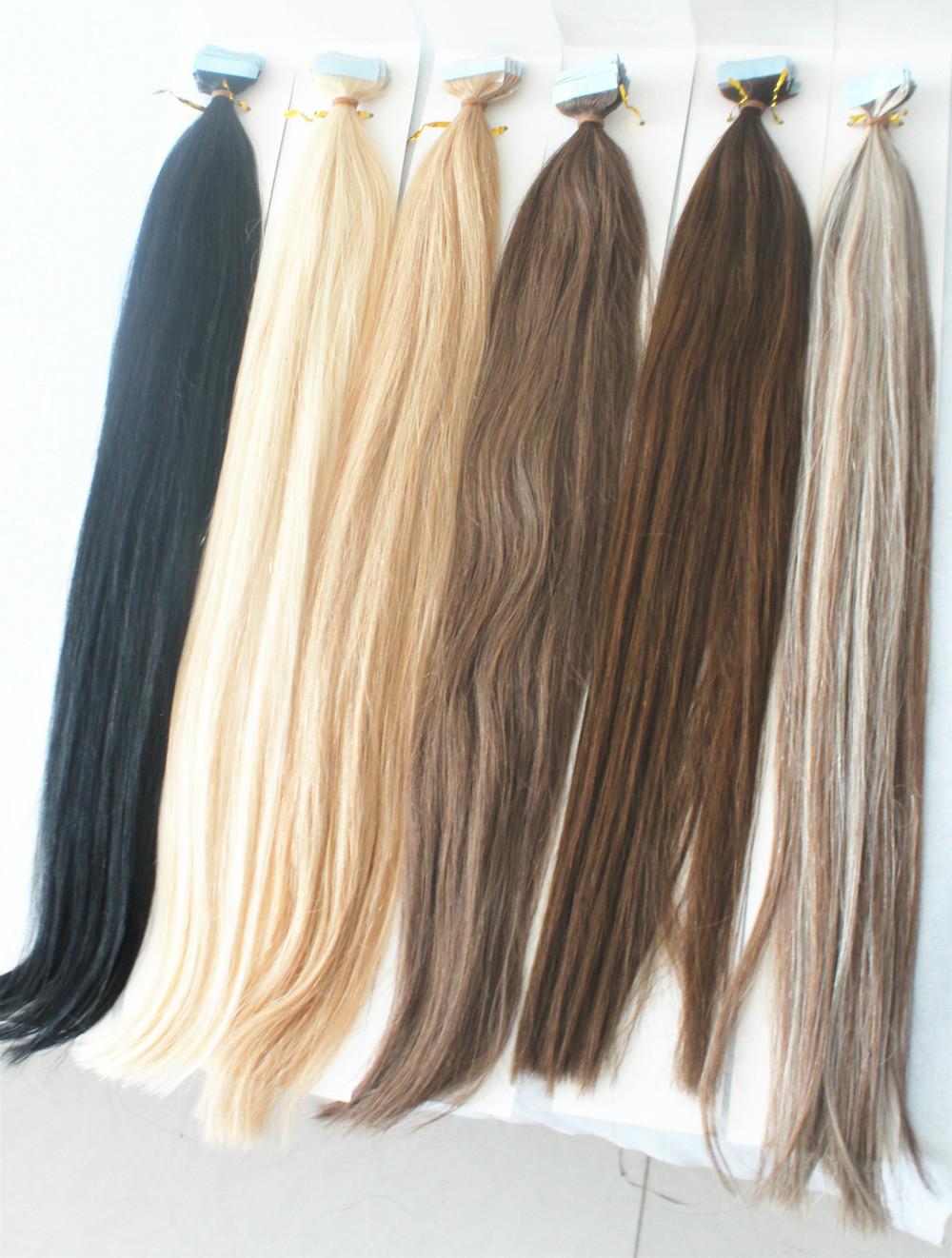 Cheap Tape Hair Extensions,Natural Human Hair on tape 40pcs 100g Silky Straight Brazilian Virgin ...