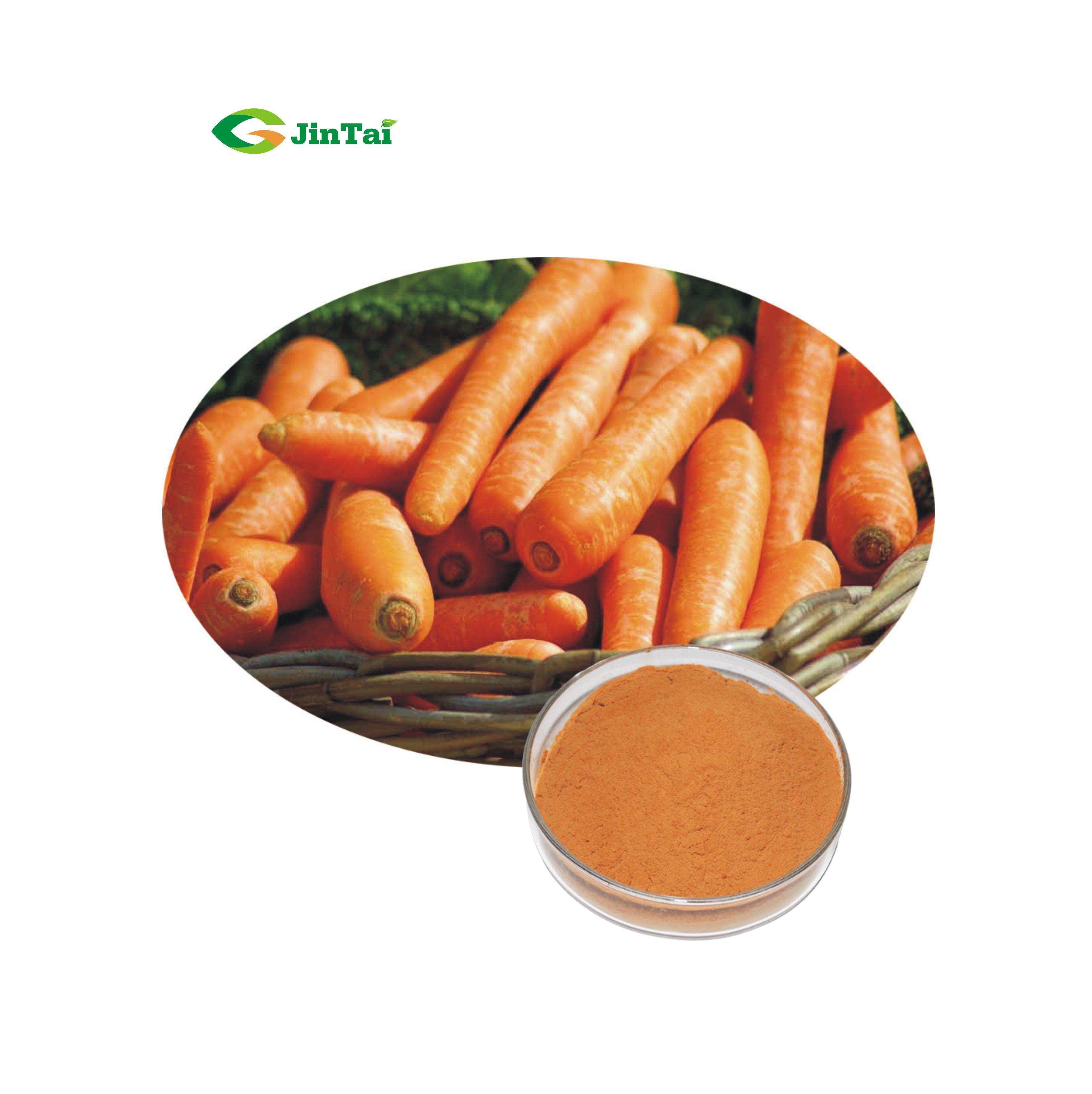 100% натуральный пищевой порошок моркови, обезвоженный порошок моркови