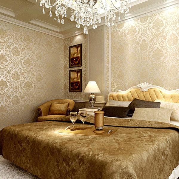 Modern Gold Glitter Wallpaper Roll Bedroom 3d Papel De