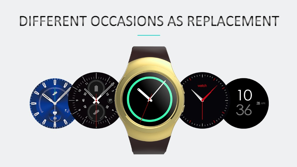 Consumer Electronics Smartch T60 Smart Watch Round Support Nano Sim&tf Card With Whatsapp And Facebook Fitness Business Smartwatch For Ios Android Modern Design Smart Electronics