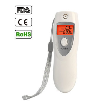 Personal Digital Alcohol Tester Meter Car Safety Police Breathalyzer Breathing Machine Price with Keychain