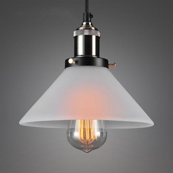 Lightings: Nordic Modern Frosted Glass Pendant Light Loft Minimalism