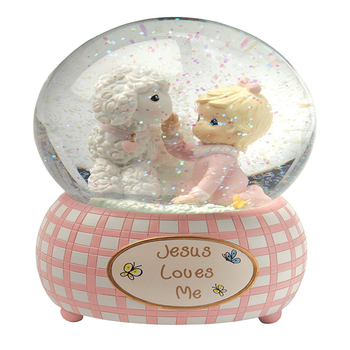 Precious Moments,resin snow globe direct factory price music water globe