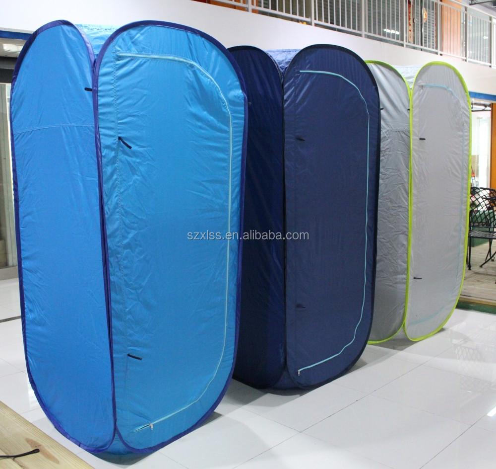 Дорожное оборудование с индивидуальным логотипом, легкая Выдвижная палатка для душа