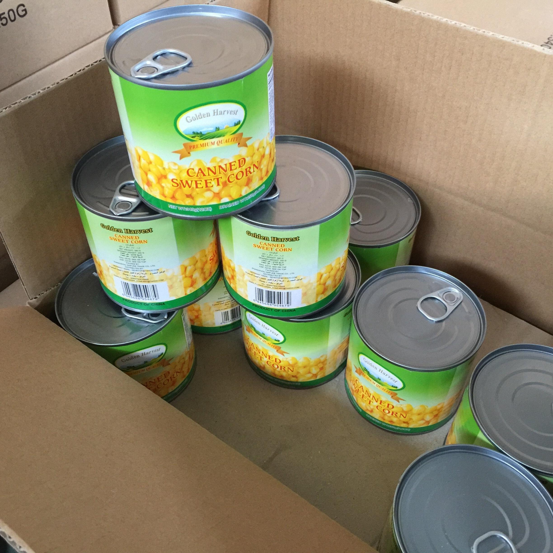 Сделано в Китае, консервированные сладкие кукурузные ядра в рассоле 184 г, 340 г, 400 г, 2500 г, 2840 г