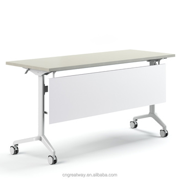Greatway folding desk with wheels Office meeting Training folding study table