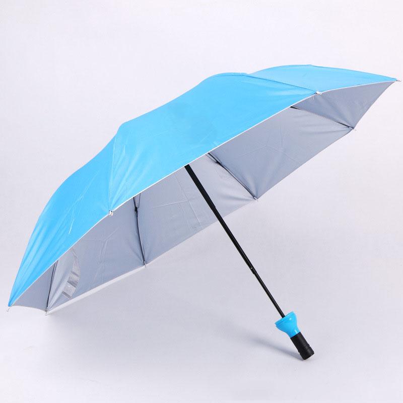 Promotion Gifts Customized Logo Manual Open UV Protection Adorable 3 Folding Wine Bottle Umbrella