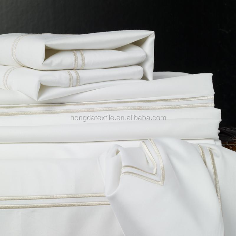 OEM 5 звездочный отель б/у египетское хлопчатобумажное гладкокрашенное ткань для гостиничного белья оптом простыня