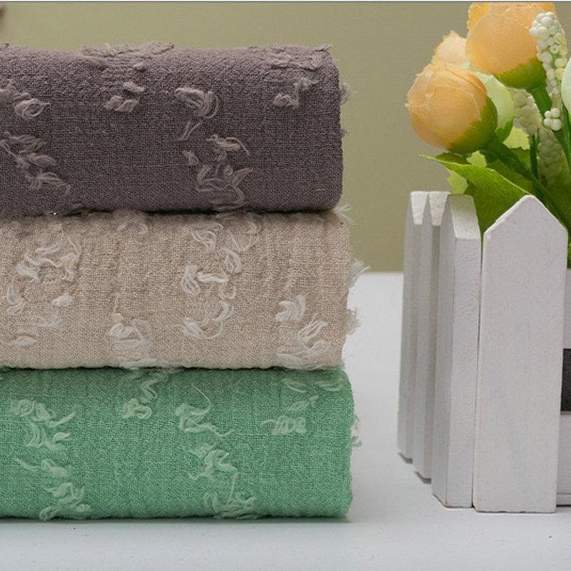 Высококачественная окрашенная пряжа, жаккардовая льняная хлопчатобумажная ткань, льняная одежда