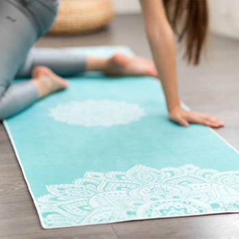 Microfiber material yoga mat towel,private logo yoga mat towel anti-slip