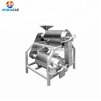 Stainless steel cactus fruits pulping and juicing machine, prickly pear pulp and seed separation machine,cereus pulping machine