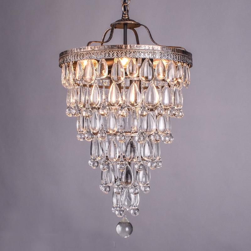 Restoration Hardware Lighting Chandeliers: Retro Antique Cooper Crystal Drops Chandeliers/LARGE