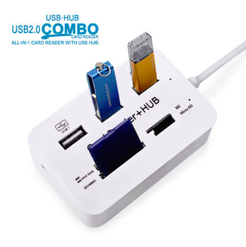 Micro USB Hub Combo High Speed Multi USB Splitter 2.0 3 Ports Card Reader Hub USB Combo All In One For PC Computer Accessories