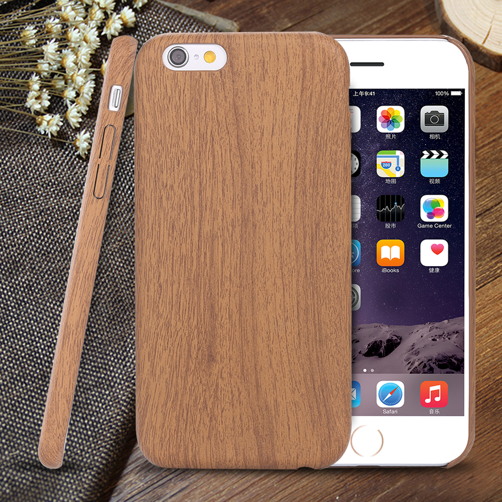wood bamboo pattern leather pu cases for iphone 6 6s 4 7 plus 5 5 case cover ultra thin retro. Black Bedroom Furniture Sets. Home Design Ideas