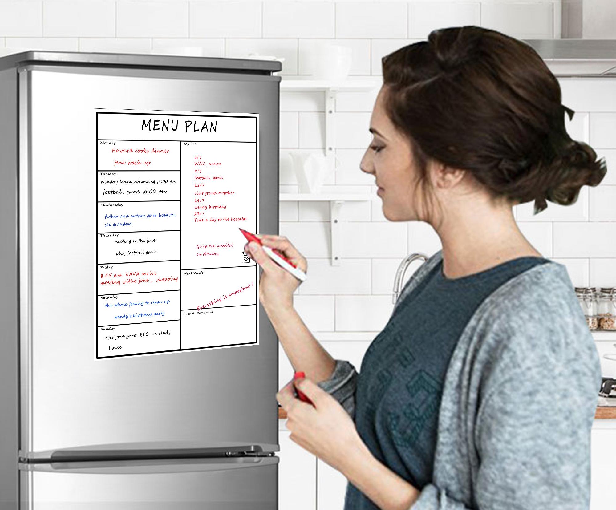 Custom Classroom Writable Fridge Magnetic Organizer Calendar Kids Refrigerator Magnet Target To Do List Sheet Buy Product On Alibaba Com
