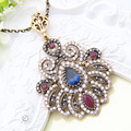 New Sale Fashion Antique Turkish Lady Pendant Necklaces Retro Gold Plated Oscar Star Style Necklace Party