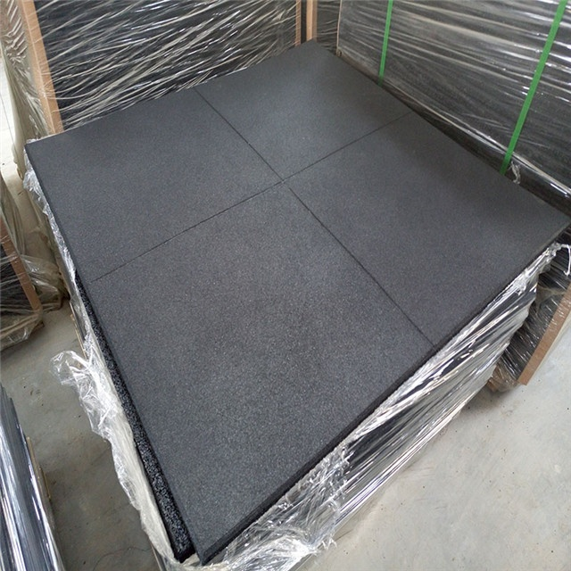 EPDM rubber flooring interlock colorful fleck rubber gym mat