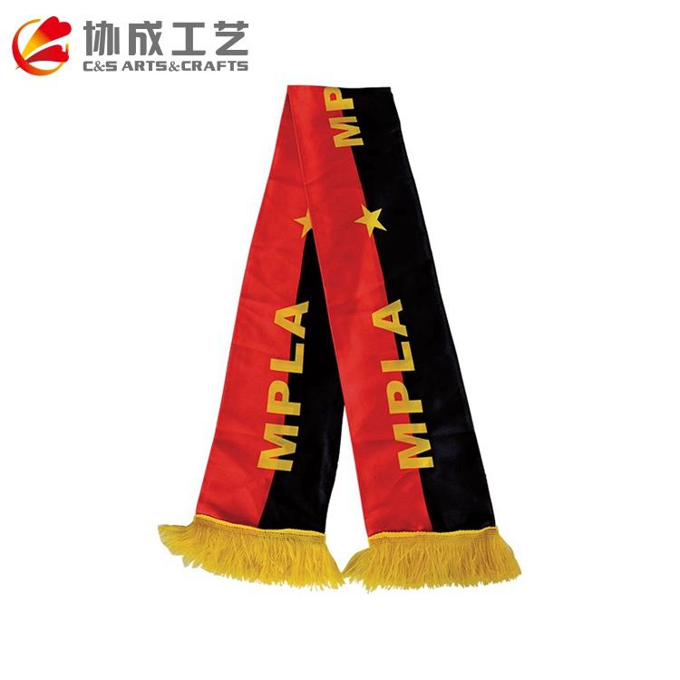 Хорошее качество, индивидуальный дизайн полиэстер футбольный шарф