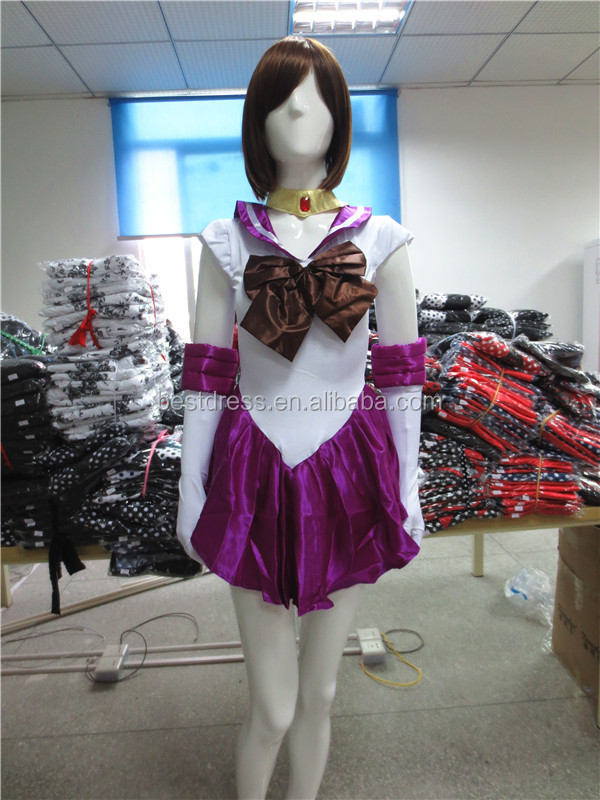 Women's Tsukino Usagi Adult Cosplay Sailor Moon Costume with gloves clown