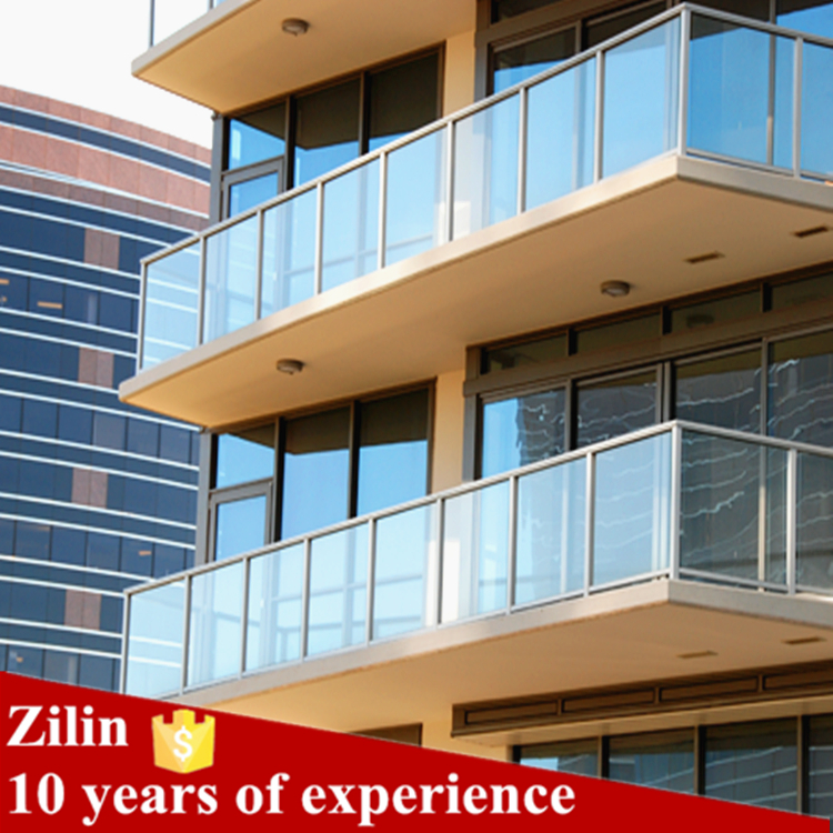 High Quality Aluminum Railings With Glass For Apartment Easy Install Outdoor Balcony Railings View Anodized Aluminum Railings Zilin Product Details From Shenzhen Zilin Industrial Co Limited On Alibaba Com