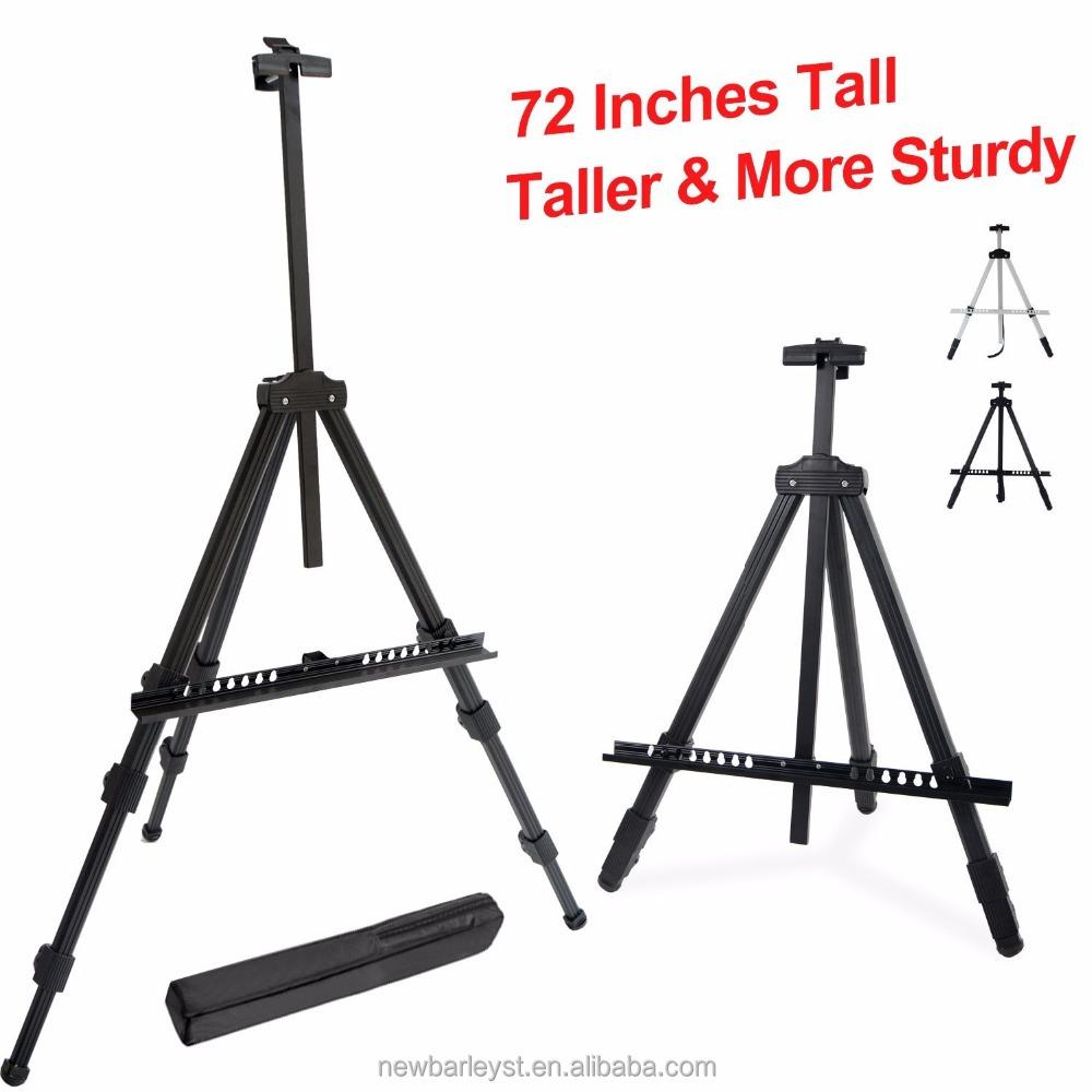 Tall Display Easel Stand, Aluminum Metal Tripod