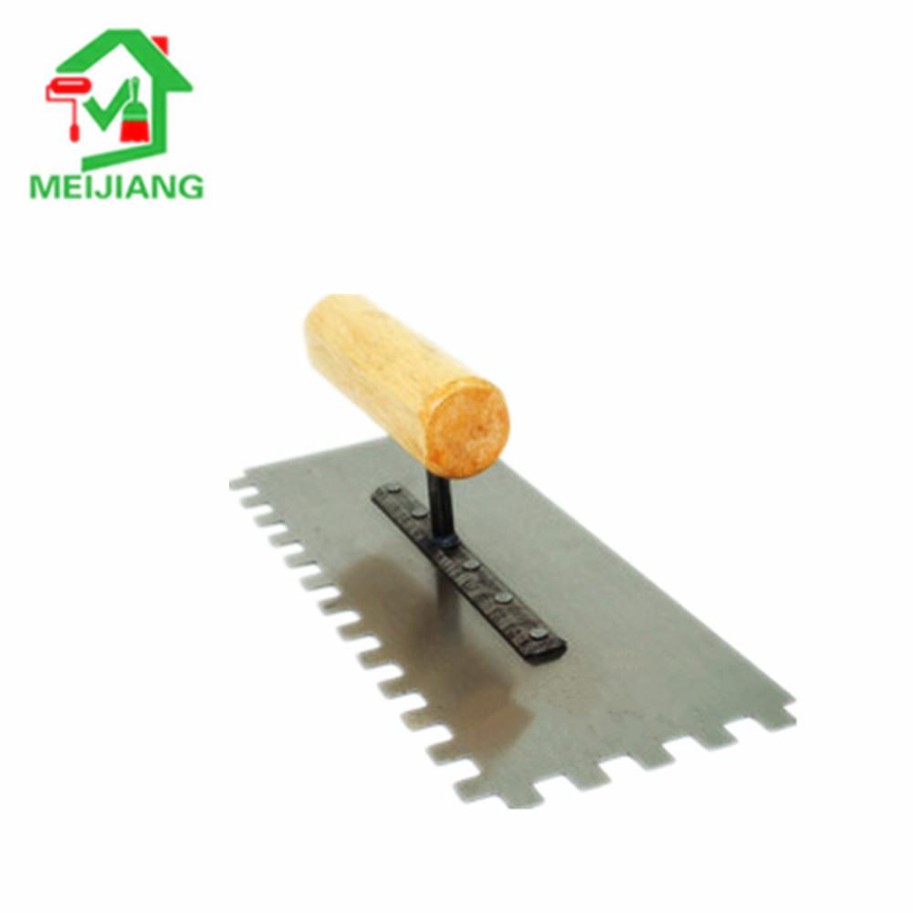 Stainless steel Tool Plastering trowel with zigzag teeth