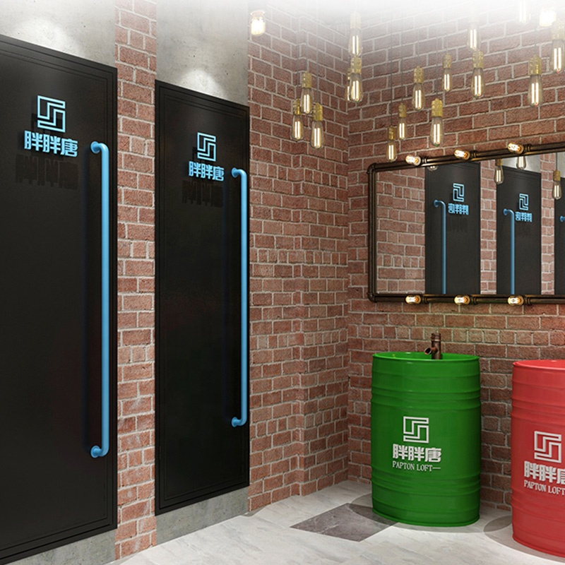 industrial loft style metal door customized size and color for office and restaurant furniture washroom door