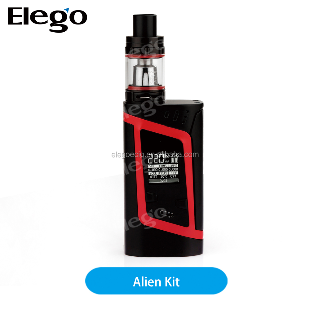 100% Original 3ml 220W SMOK Alien Kit vape smok from Elegotech