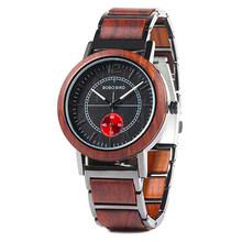 BOBO BIRD часы для влюбленных роскошные деревянные часы пара стильных и качественных наручных часов особый цвет сочетание дизайна K-R12(Китай)
