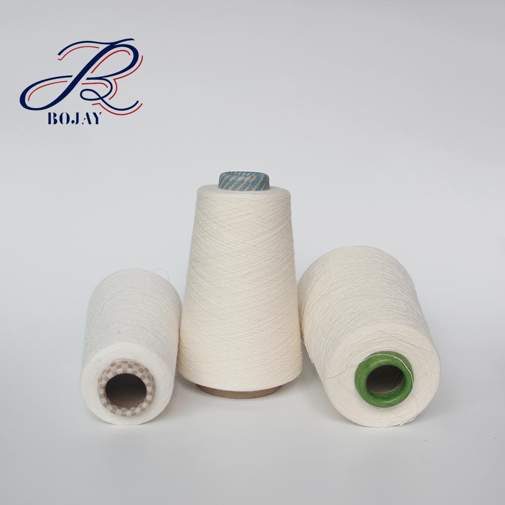 Bojay Good Reputation Wholesale 100% Linen Yarn 36 Nm/1 Flax yarn semi-bleahced short fiber For Knitting amp weaving long Fiber
