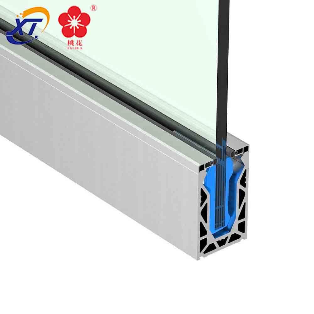 Алюминиевая стеклянная ограда для бассейна, балюстрада с креплением для забора, квадратная и наружная алюминиевая U-образная стеклянная балюстрада, алюминиевая балюстрада