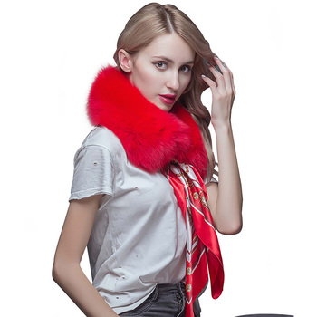 Warm Scarf For Ladies's Coat Wholesale Cheap Price Floppy Fox Fur Scarf Collar
