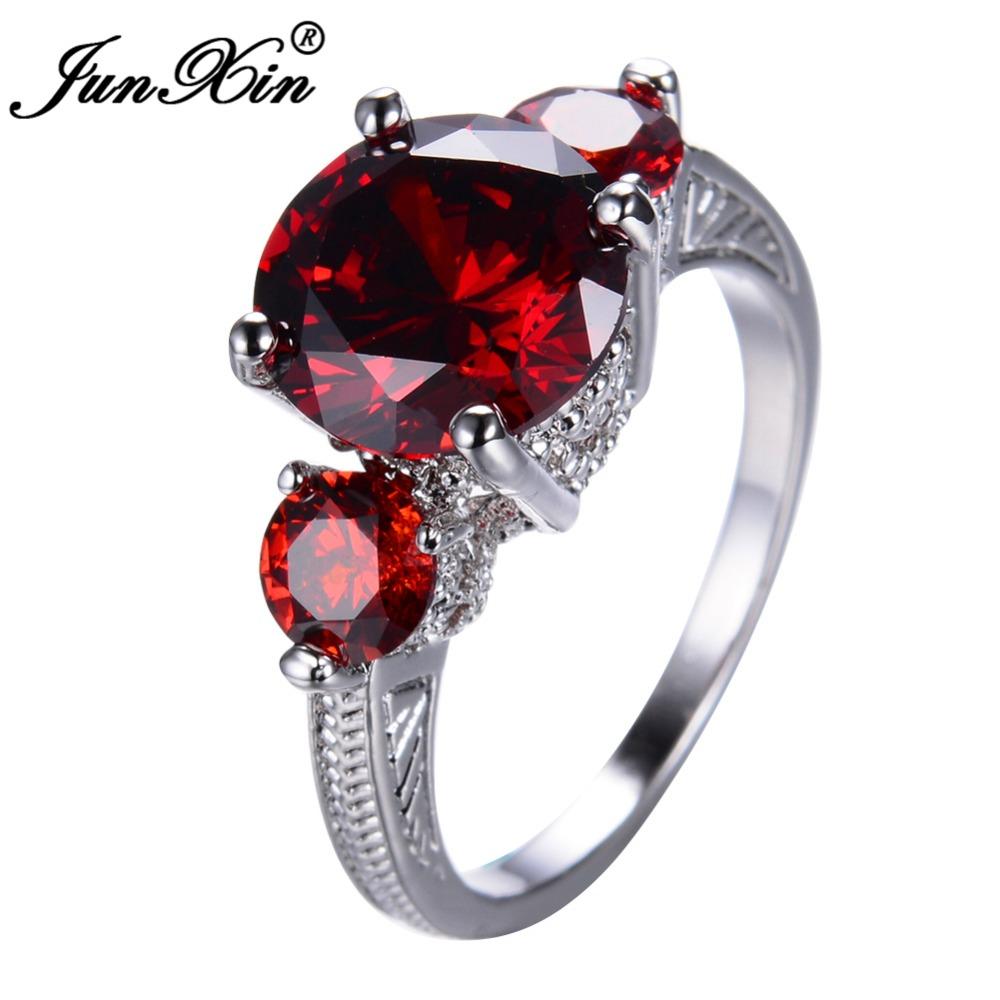 Ruby Wedding Gifts For Men: JUNXIN Charm Jewelry Fashion Men Women Ruby Red Ring