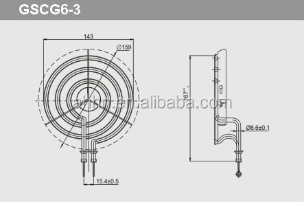 Small Coil Range Burner Element 110v