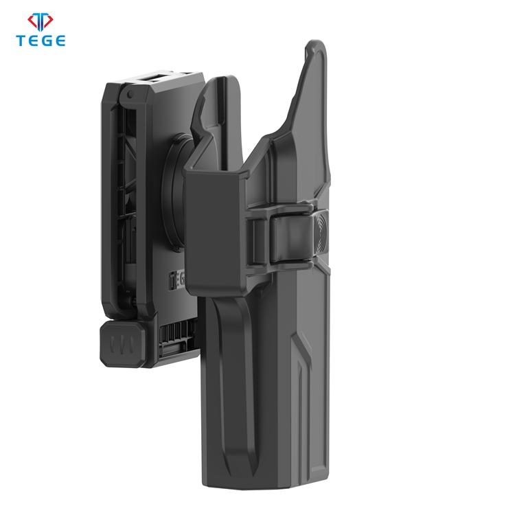 Универсальная тактическая кобура Glock, подходит для Glock 17/22/31 Gen 1-5 с зажимом для ремня два в одном, прикрепленная полимерная регулирующая кобура