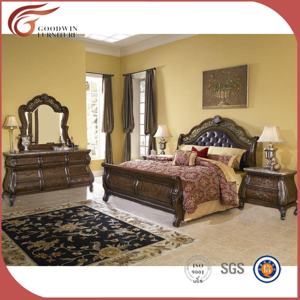 Queen Traditional American Style Sleigh Bed Bedroom Set Wa142 Buy Bedroom Furniture Wood Furniture Home Furniture Product On Alibaba Com