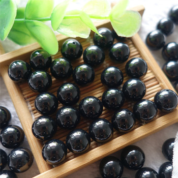 10 mm round black agate Beads loose beads half hole gemstone beads for jewelry making