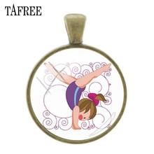 Подвески TAFREE для рукоделия, аксессуары для гимнастики, художественная подвеска с бронзовым покрытием, брелок и ожерелье, ювелирные аксессу...(Китай)