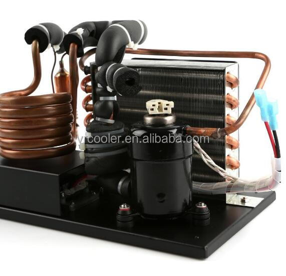 Widely use 12v r134a compressor tiny type condensing unit for small freezer